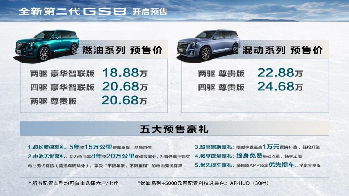 真猛!第二代GS8 刚下线就喜提5000+订单,混动版本受热捧
